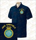 HMS SHEFFIELD T22 Embroidered Polo Shirts