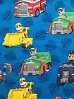 PAW PATROL on blue : 100% LICENSED cotton  :  by the 1/2 metre