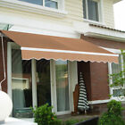 9.8'X8.2' Manual Patio Canopy Retractable Deck Awning Sunshade Shelter 5 Color