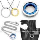 Valentine Stainless Steel Zodiac Couple Ring Pendant Necklace Love Jewelry Gift