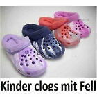 Children Fur Lining Clogs Klogs Shoes Sandals Winter Heat Slippers