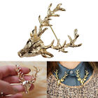 Fashion Women Vintage Deer Antlers Head Brooches Pin Christmas Fashion Jewelry