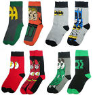 DC Comics - Twin Pack Adult Sock Set Batman/Flash/Green Lantern - New & Official