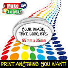 Oval Self Adhesive & Custom Printed Full Colour Sticky Labels - Large