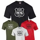 Made in 1976 T-Shirt 41st Birthday Gift Present Mens Family Tee S-XXL