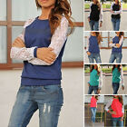 Fashion Women Ladies Summer Lace Long Sleeve Shirt Casual Blouse Loose Tops Hot