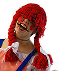 Halloween-Creepy-Annabelle-Horror-Possessed RED DOLL WIG One Size