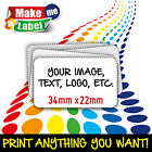 Rectangle Self Adhesive & Custom Printed Full Colour Sticky Labels - Small