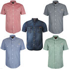 Men's Tokyo Launry Short Sleeve Shirt Casual S/S Chambray Cotton Denim Top Shirt