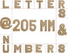Large 205mm Paper Mache Letters, Numbers & Symbols for Crafts