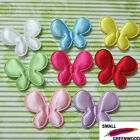 "(U Pick) Wholesale 40-480 Pcs. 1-3/8"" Padded Satin Butterfly Appliques B0930"