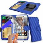 For Oukitel K4000 Pro - Clip On PU Leather Book Wallet Case & Glass