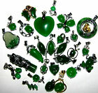LARGE SELECTION OF GREEN JADE NECKLACES FROG BUTTERFLY HEARTS BUDDHA BUY 2 GET 1