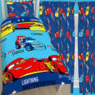 "Disney Cars Piston Single Duvet & Matching 54"" or 72"" Drop Curtains Bed Set"