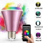 4W Bluetooth Smart Speaker LED E27 Light Bulb APP Dimmable RGBW Music AA P3Q6