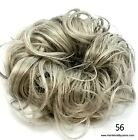 Extra Large Gray Salt  Pepper Curly hair Scrunchie Updo Maker Bun Cover Elastic