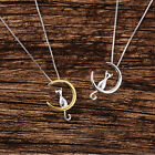 Moon Cat Cute Animal Necklaces Pendant Simple Necklace Women Fashion Jewelry