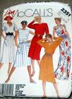 Vintage Easy McCall's Pattern 2351 Sz 10-12-14 Ladies Dresses 5 styles