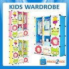 Childrens Kids Wardrobe Bedroom Storage Cabinet Toy Organiser Rack Draws Box