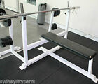 BENCH PRESS COMMERCIAL GRADE WITH BAR & WEIGHTS GYM FITNESS EQUIPMENT