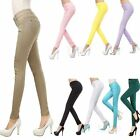 Womens Lady Stretch Pencil Pants Sexy Solid Color Casual Slim Skinny Trouser New