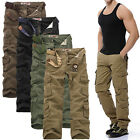Fashion Men's New Cargo Camo Combat Military Trousers Camouflage Pants Casual UK