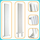 White Vertical Designer Radiators - Upright Column - Modern Central Heating UK