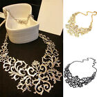 New Womens Retro Vintage Hollow Pendant Bib Choker Necklace Statement Chain LAUS