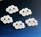 10/30/50Pcs Resin Lovely Cloud White flat back Scrapbooking For DIY phone /craft