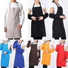 UK Apron With Front Pocket For Chefs Butchers Kitchen Cooking Craft Plain Hot