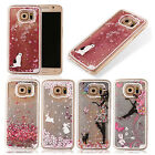 New Cute Glitter Moving Sand Hard Phone Case Cover For Samsung Galaxy S6 edge S7