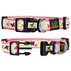 GoCooper Girl Pink Cute Unique Dog Collars And Leashes Set Butterfly
