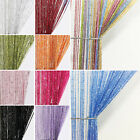 UK Curtain Glitter String Panels Tassel Fly Screen & Room Divider Net Curtains