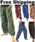 NEW Baggy Pants Harem Ali Baba Hippie Boho Trousers Men's Women's Genie Aladdin