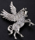 Flying horse pegausu pin brooch jewelry gifts for women girls gold & silver ZP53