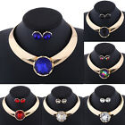 Fashion Rhinestone Necklace Earrings Charm New Set Crystal Women Party Jewelry