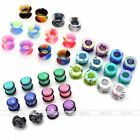 36pcs 8G-00G Acrylic Ear Tunnel Plugs Silicone Flared Expander Stretcher Gauges