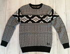 DC SHOES Laurell Park Maglione Uomo Black Ethnic Print NEW FALL WINTER 16/17