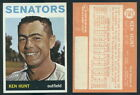 (46449) 1964 Topps 294 Ken Hunt Senators-NM