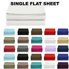 1500 Thread Count Single Flat Sheet Top Sheet - Available in 12 Colors All Sizes image