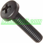 25 Nylon Plastic BLACK Screw Bolt, PAN HEAD PHILLIPS M3 M4 M5 M6