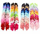 """40Pcs 3"""" Baby Girls Grosgrain Ribbon Boutique Hair Bows For Teens Girls Toddlers"""