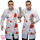 KILLER DOCTOR FANCY DRESS ADULT HALLOWEEN COSTUME WITH BLOODY APRON AND MASK