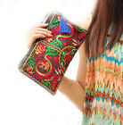 New Women Bag Handbag Wallet Purse National Retro Embroidered Phone Change Coin