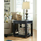 Signature Design By Ashley Gavelston End Table Black Finsih Square  - T732-2
