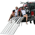 """95"""" Full-Width Motorcycle Ramp 3PC Arched 1500lb Aluminum Loading System M-9540"""