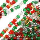 Czech Seed Beads 'Deck The Halls' Christmas Mix 11/0