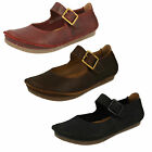 Ladies Clarks Janey June Black Or Wine Leather Casual Shoes D Fitting