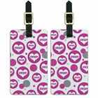 Luggage Suitcase Carry-On ID Tags Set of 2 Celebration Wedding Marriage