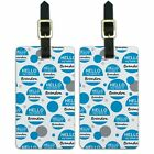 Luggage Suitcase Carry-On ID Tags Set of 2 Hello My Name Is Br-By